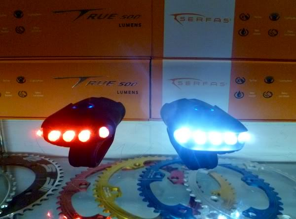 Serfas USL LED bicycle light USB charged
